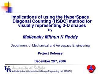 Implications of using the HyperSpace Diagonal Counting (HSDC) method for visually representing 3-D shapes By Mallepally