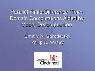 Parallel Finite-Difference Time-Domain Computations Aided by Modal Decomposition