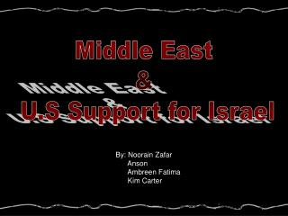 Middle East  &  U.S Support for Israel