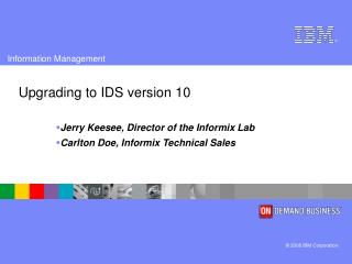 Upgrading to IDS version 10