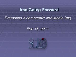 Iraq Going Forward
