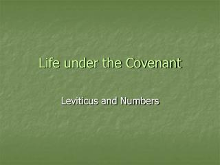 Life under the Covenant