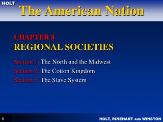 CHAPTER 8  REGIONAL SOCIETIES