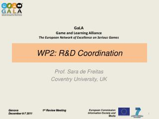 WP2: R&D Coordination