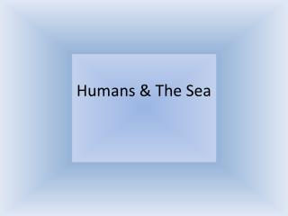 Humans & The Sea