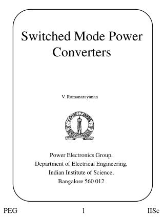Switched Mode Power Converters