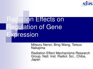 Radiation Effects on Regulation of Gene Expression