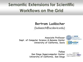 Semantic Extensions for Scientific Workflows on the Grid