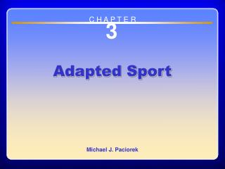 Chapter 3 Adapted Sport