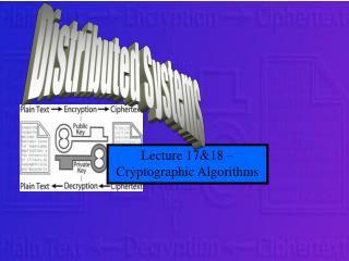 Lecture 17&18 –  Cryptographic Algorithms