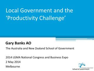 Local Government and the 'Productivity Challenge'
