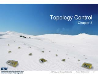 Topology Control Chapter 3