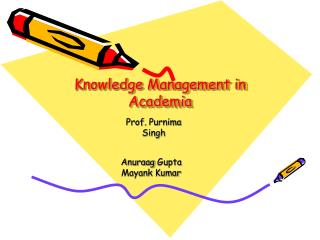 Knowledge Management in Academia