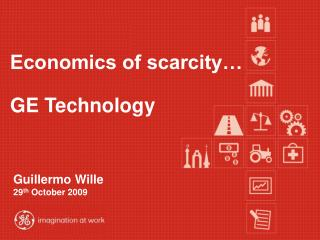 Economics of scarcity…