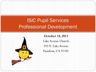 ISIC Pupil Services Professional Development