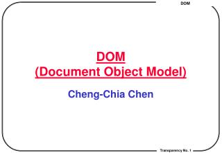 DOM (Document Object Model)