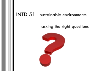 Asking the  right  questions  for IMPACT