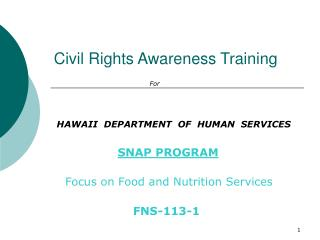 Civil Rights Awareness Training