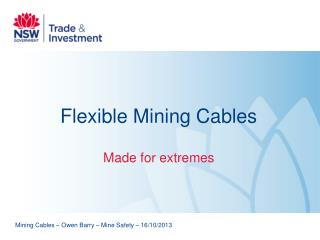 Flexible Mining Cables