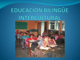 EDUCACION BILINGÛE INTERCULTURAL