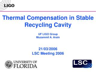 Thermal Compensation in Stable Recycling Cavity