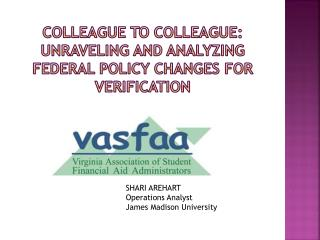 COLLEAGUE TO COLLEAGUE: unraveling and analyzing federal policy changes for verification