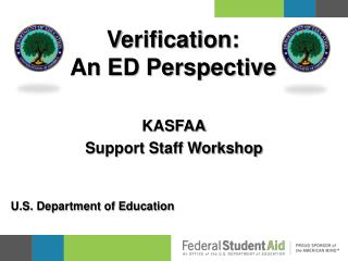 Verification: An ED Perspective
