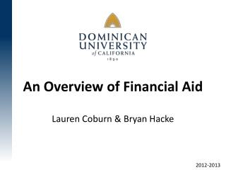 An Overview of Financial Aid