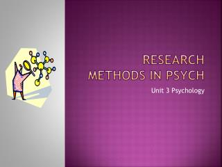 Research Methods in Psych