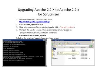 Upgrading Apache 2.2.X to Apache 2.2.x for Scrutinizer