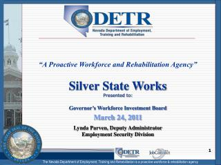 """A Proactive Workforce and Rehabilitation Agency"""