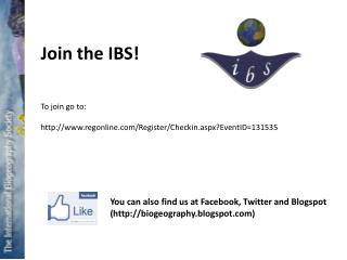 Join the IBS!