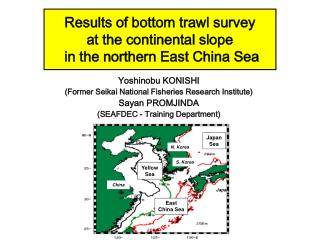Results of bottom trawl survey  at the continental slope  in the northern East China Sea