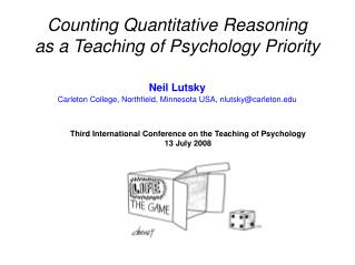 Counting Quantitative Reasoning  as a Teaching of Psychology Priority
