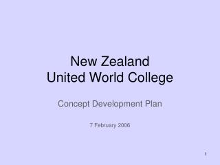 New Zealand  United World College