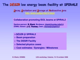The  DESIR  low energy beam facility at SPIRAL2