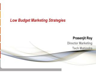 Low Budget Marketing Strategies