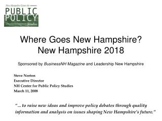 Where Goes New Hampshire?   New Hampshire 2018
