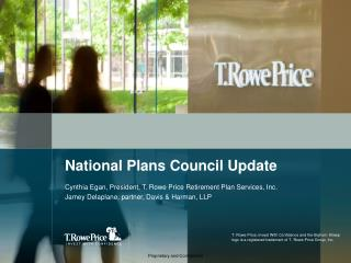 National Plans Council Update
