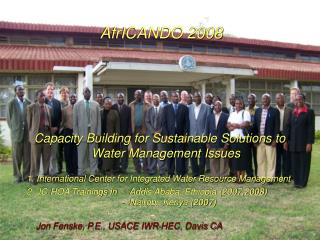 AfrICANDO 2008 Capacity Building for Sustainable Solutions to Water Management Issues