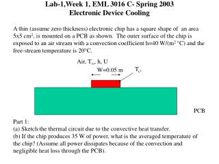 Lab-1,Week 1, EML 3016 C- Spring 2003 Electronic Device Cooling