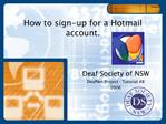 How to sign-up for a Hotmail account.