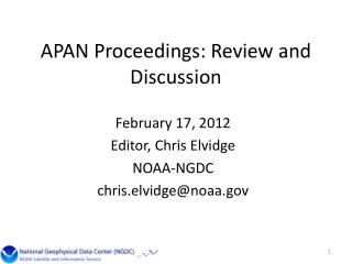 APAN Proceedings: Review and Discussion