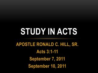 Study in ACTs