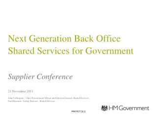 Next Generation Back Office Shared Services for Government