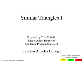 Similar Triangles I