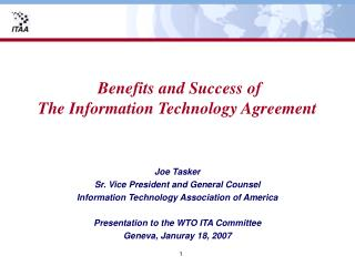 Benefits and Success of The Information Technology Agreement