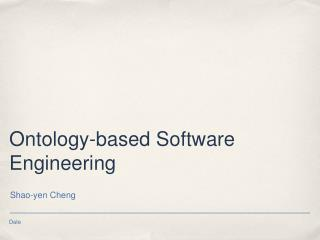 Ontology-based Software Engineering