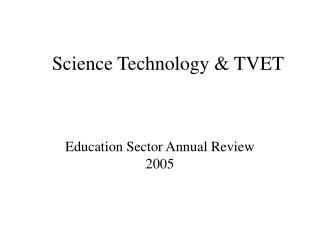Science Technology & TVET