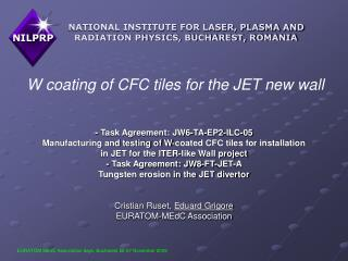 W coating of CFC tiles for the JET new wall